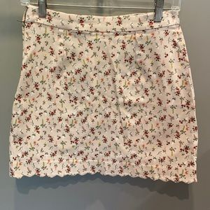Vintage floral skirt from H&M